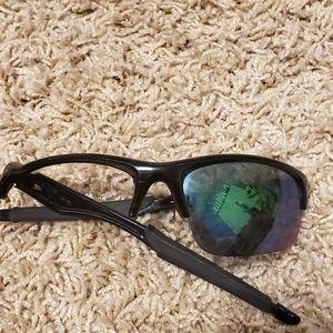 Oakley Black Green Lenses Bottle Rocket Sunglasses